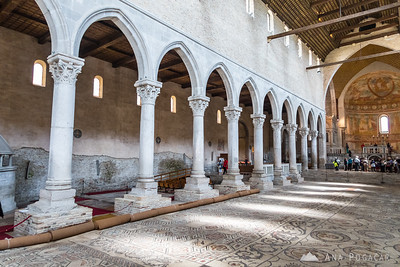 Church interior with the famous mosaics, Aquileia
