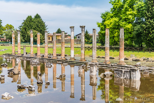 Ruins of the old Roman port in Aquileia