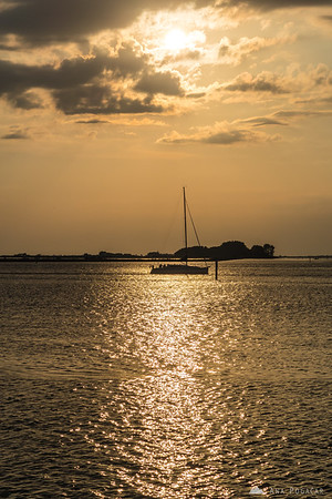 Sunset in Grado