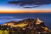 Piran from the city walls at dusk