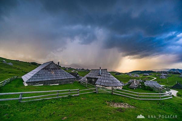 Storm over Velika planina