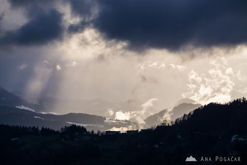 Dramatic skies from Šmarjetna gora