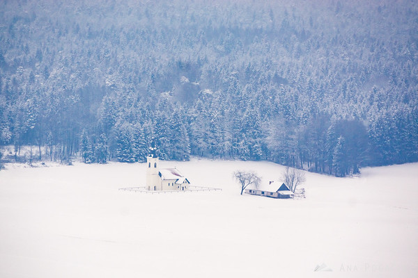 Snowy landscapes from the Smlednik castle