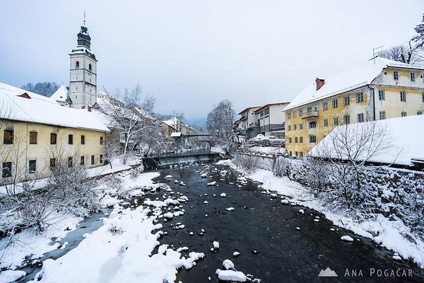 Škofja Loka in snow