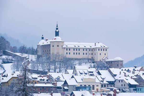Škofja Loka Castle in snow