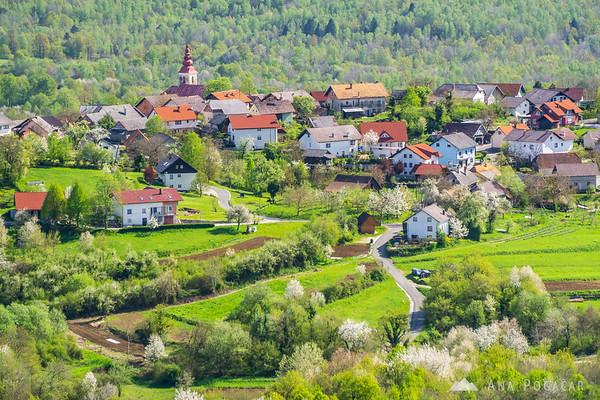 Views from the view tower in Krašnji vrh, Bela krajina