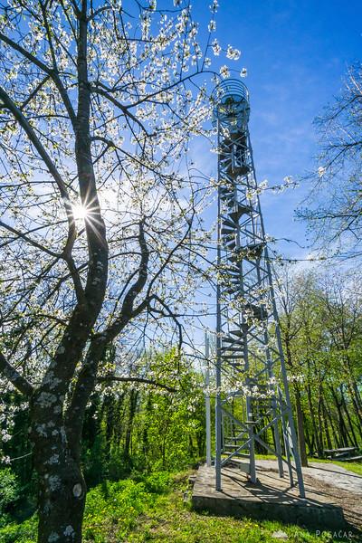 The view tower in Krašnji vrh, Bela krajina