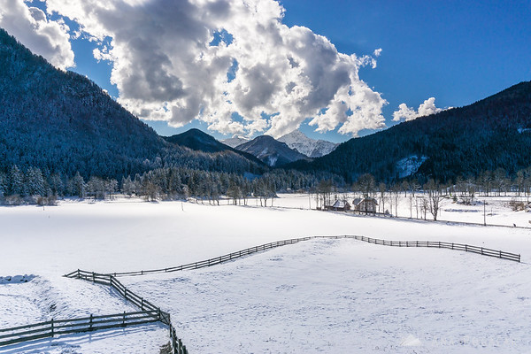 Jezersko in winter
