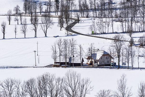 Jezersko in winter