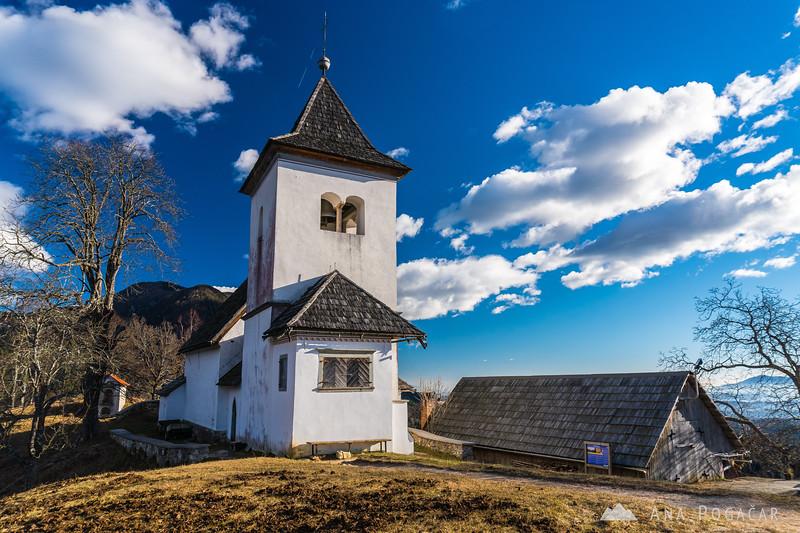 St. Peter church above Begunje