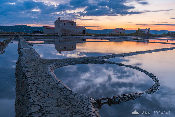 Sunrise in Sečovlje salt pans