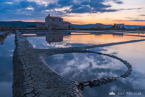 Sunrise in Sečovlje salt pans