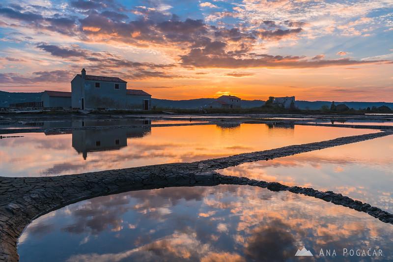 Sunrise in Sečovlje salt pans - Sep 24, 2016