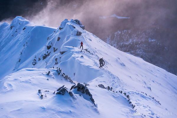 Winter ascent to Mt. Viševnik - wind gusts were unbelievable.