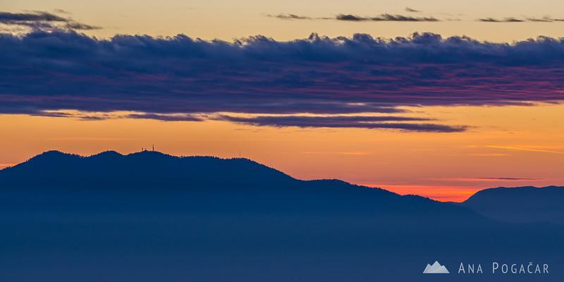 Sunset in Janče