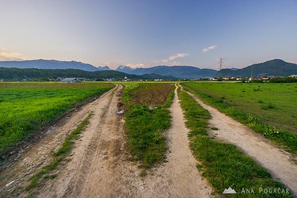 Sunset from fields near Duplica