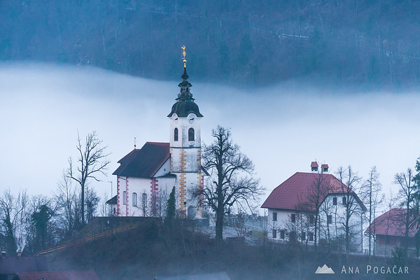 Podlipa in the mist