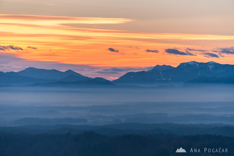 Views from Stari grad hill at sunset