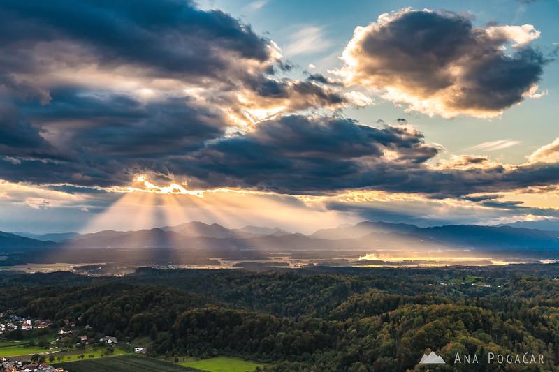 Sunset from Stari grad - Oct 5, 2016