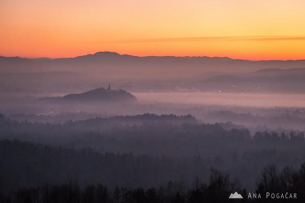 Homec hill after sunset
