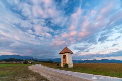 Sunset near Kamnik - Sep 24, 2016