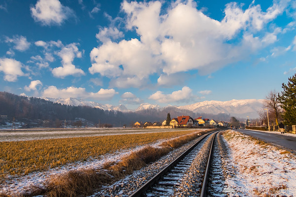 The Kamnik Alps after a fresh dusting of snow