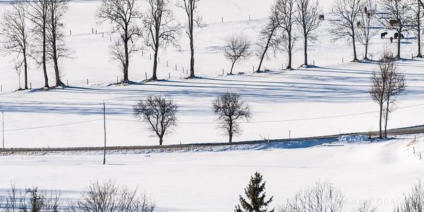 Jezersko on a sunny winter day