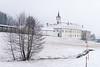 Mekinje monastery in snow