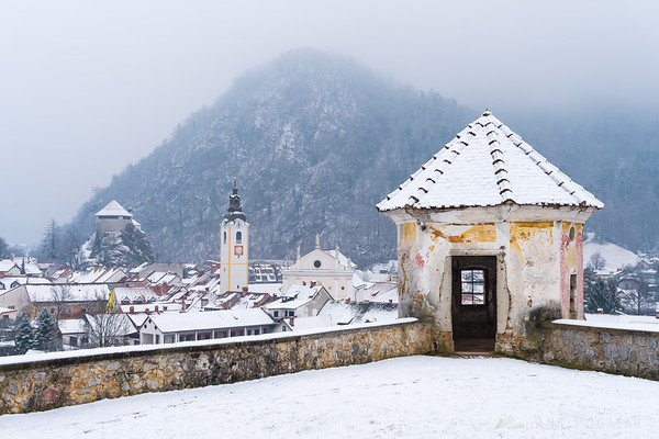 View of Kamnik old town from Zaprice hill