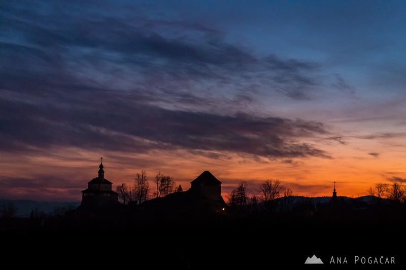 Kamnik silhouette at dusk