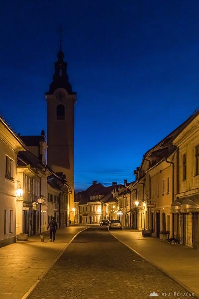 Šutna street in Kamnik
