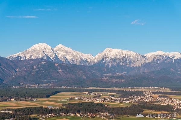 Kamnik Alps from Šmarjetna gora