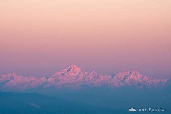 Mt. Triglav in the Julian Alps at sunrise