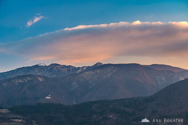 Velika planina from Stari grad hill