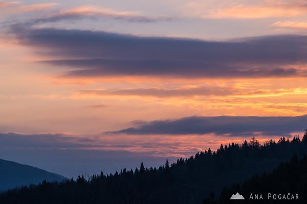 Sunrise colors from Stari grad hill
