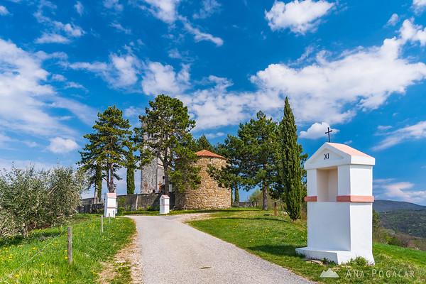 Church of St. Cross (Cerkev Sv. Križa) in Kojsko, Goriška Brda