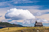 Chapel on Velika planina and a cloud