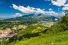 Views of Kamnik and the Kamnik Alps from Špica hill