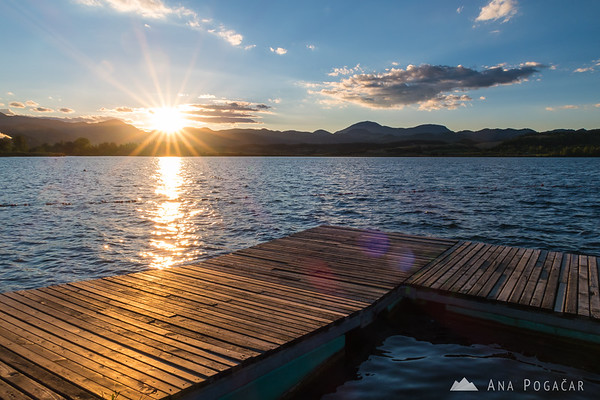 Sunset at Velenje Lake