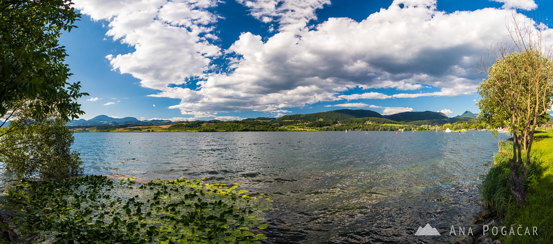 A pano shot of Velenje Lake