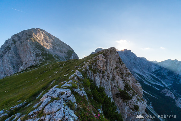 Last sunrays at the Kamnik Saddle
