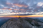 Fantastic clouds over the Kamnik Alps at sunrise as seen from the top of Mt. Planjava
