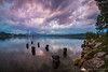 Incredibly purple clouds above Velenje Lake that lasted a few minutes