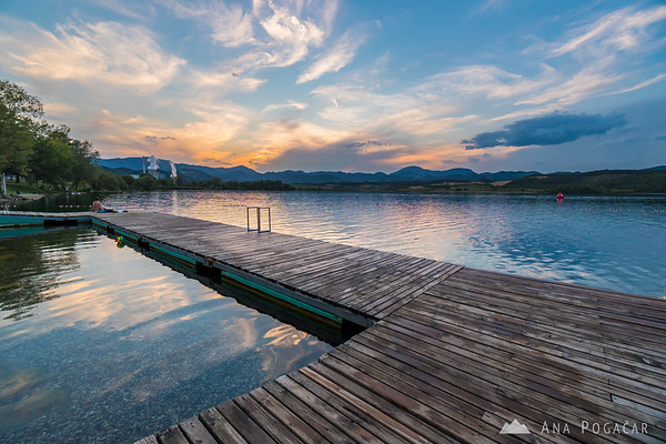 Pier at Velenje Lake
