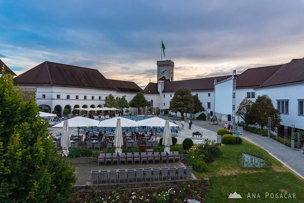 Ljubljana Castle courtyard