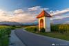 Last sun rays in Križ near Kamnik