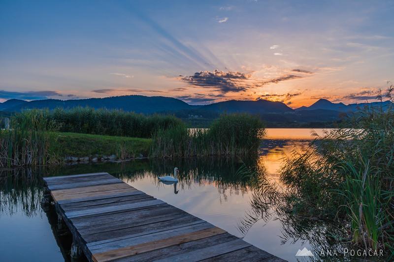 Velenje Lake at sunrise