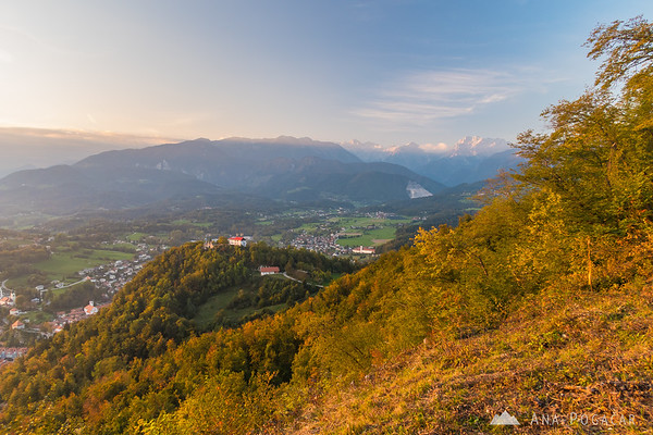 Views from Špica at sunset