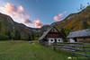 Voje valley after sunset