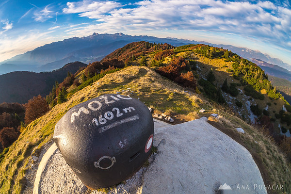 A fish-eye view from Možic